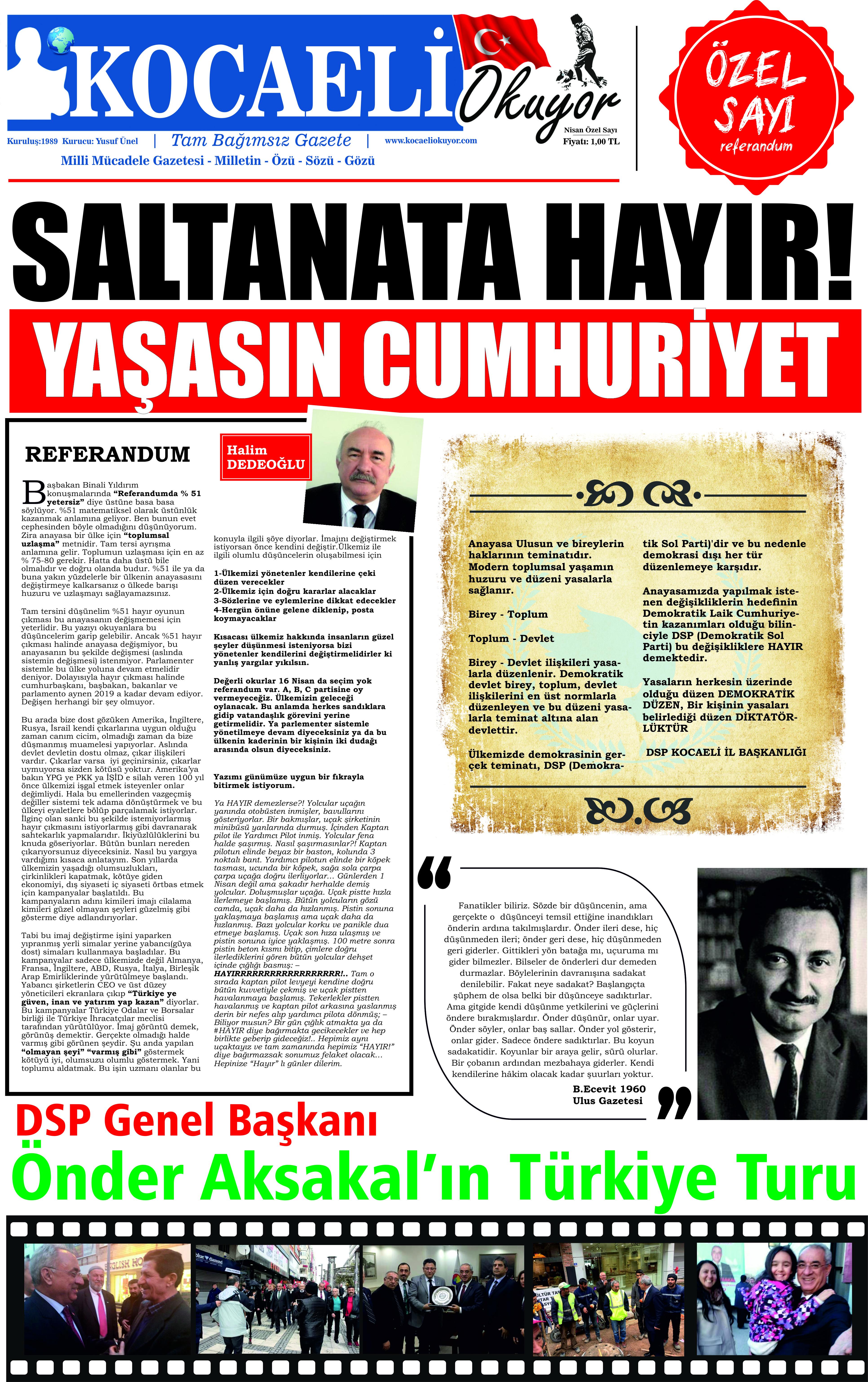 HAYIR ÖZEL SAYISI – kocaeliokuyor.com