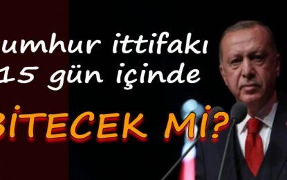 Erdoğan'ın Cumhur İttifakı'nı 10-15 gün içinde bitireceğini öne sürdü!