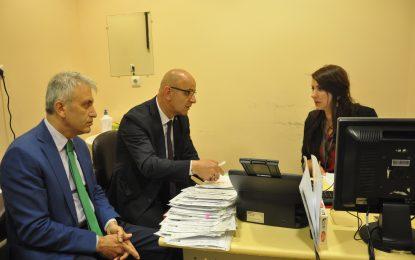 MHP İl Başkanı Üniversite'de ki Personel için Burhan Eres'i ziyaret etti