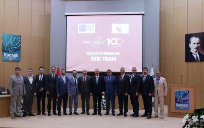 Türkiye 100- Kocaeli'nin Gururları  Kocaeli Ticaret Odası'nda ödüllendirildi