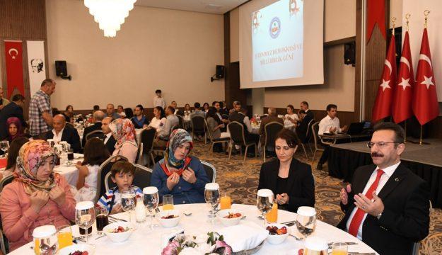 Vali Aksoy: Demokrasiye İndirilecek Darbeleri Milletimizin Asla Kabul Etmeyeceğini 15 Temmuz Günü Türk Milleti Bütün Dünyaya İspat Etmiştir
