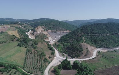 Karamürsel İhsaniye Barajında Çalışmalar Devam Ediyor