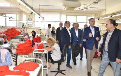 """TİSK Yönetimi """" Bizimköy Engelliler Üretim Merkezi"""" ne hayran kaldılar"""