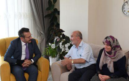 Vali Şehidimiz Piyade Çavuş Zafer Trabzonlu'nun Ailesini Ziyaret Etti