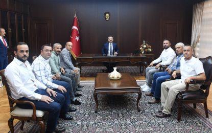 Gebze Ziraat Odası Başkanı ve Yeni Yönetiminden Vali Aksoy'a Ziyaret
