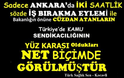 Türk Sağlık Sen Başkanı Çeker: Sıfır Zam, Sıfır Kazanımın Hesabını Çalışanlar Sormalı