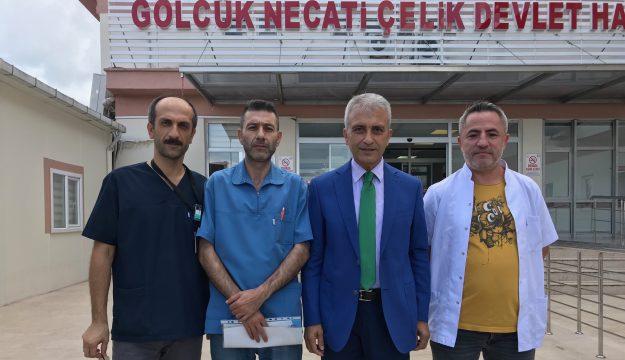 Gölcük Necati Çelik Devlet Hastanesinde Konuşan  Çeker; Memurun Ve Emeklinin Ahını Aldılar