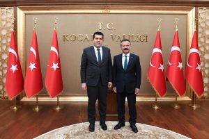 Kuzey Makedonya Cumhuriyeti Dış Yatırımlardan Sorumlu Devlet Bakanı Dr. Elvın Hasan, Vali Aksoy'u Ziyaret Etti