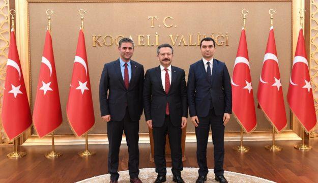 Kandıra Belediye Başkanı  ve Kandıra Cumhuriyet Başsavcısı ,  Vali Aksoy'u Ziyaret Etti