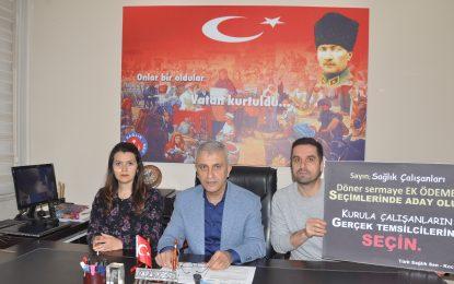 Türk Sağlık Sen: Sağlık Çalışanları Döner Sermaye Komisyonu Seçimlerine sahip Çıkmalı