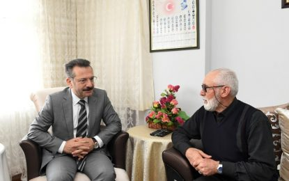 Vali Aksoy, Şehidimiz Özel Harekat Polisi Mustafa Semerci'nin Ailesini Ziyaret Etti