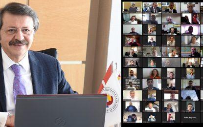 KOTO'nun online meclis toplantısında TOBB Başkanı Hisarcıklıoğlu'ndan övgü