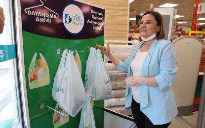 İzmit Belediyesi'nin Askıda Gıda kampanyası büyüyor – 6 yeni markete daha Dayanışma Askıları kuruldu