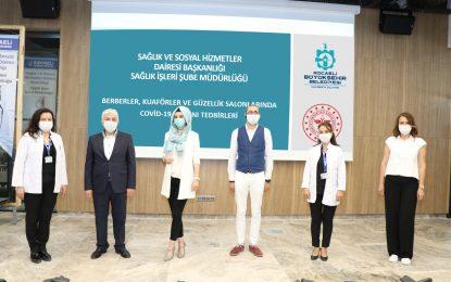 Berber, kuaför ve güzellik salonu çalışanlarına Covid-19 eğitimi