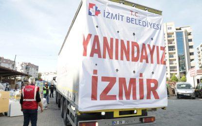 İzmit halkının yardımları İzmir'e ulaştı