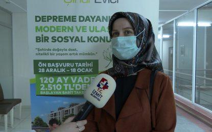 Kiptaş İzmit Çınar Evler'de sözleşmeler imzalanmaya devam ediyor