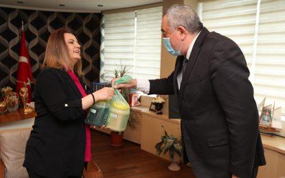 Başkan Hürriyet, Tuzlukçu Belediye Başkanı Akboğa'yı makamında ağırladı