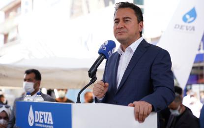 DEVA Partisi lideri Babacan: Soylu'nun yükünü Cumhurbaşkanı taşıyor