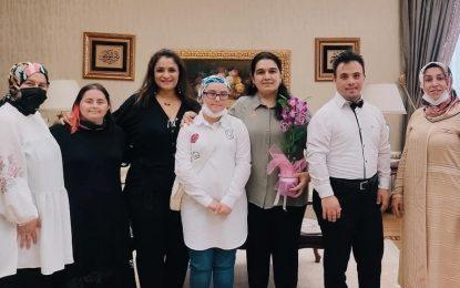 Beyaz Meleklerden Bayan Yavuz'a Ziyaret