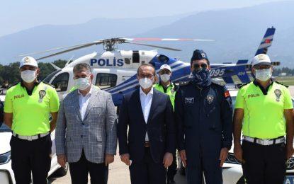 Vali Yavuz, Havadan Yapılan Trafik Denetimlerine Katıldı