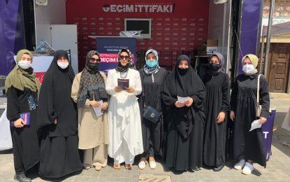 Saadet Partisi Gebze Kadın Kolları Geçim İttifakı Basın Açıklaması